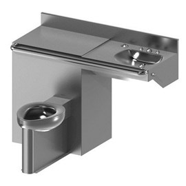 ADA Toilet-Lavatory Comby with Offset Toilet