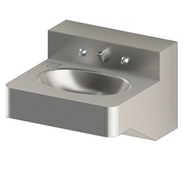 18 Inch ADA Security Stainless Steel Lavatory with Oval Bowl