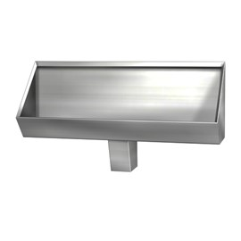Stainless Steel Security Trough Urinal for Rear Mount (Chase) Application