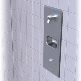 Single-Flush Panel Stainless Steel Security Shower