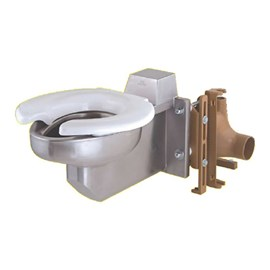 Off-Floor, Siphon Jet Bariatric Stainless Steel Toilet for Front Mount