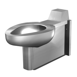 On-Floor, Wall Waste, Blowout Jet Stainless Steel Toilet for Front Mount