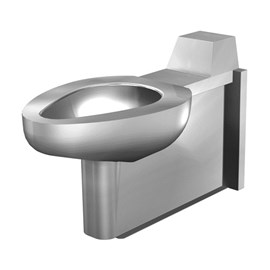 On-Floor, Wall Waste, Blowout Jet Stainless Steel Replacement Security Toilet