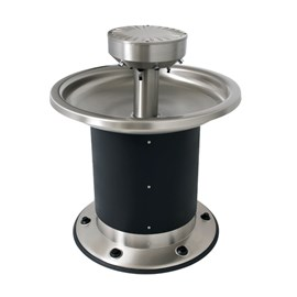Six Station Circular Stainless Steel Wash Fountain